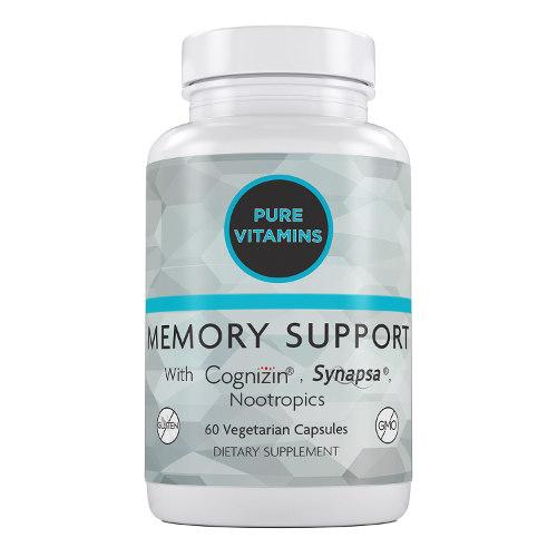 PURE VITAMINS MEMORY SUPPORT 60 VCAPS