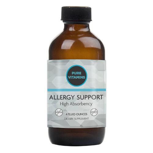 PURE VITAMINS ALLERGY SUPPORT LIQUID 4OZ