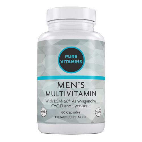 PURE VITAMINS MEN'S MULTIVITAMINS 60 CAPS