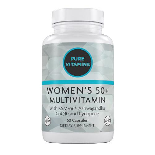 PURE VITAMINS WOMEN'S 50 PLUS MULTIVITAMINS 60 CAPS