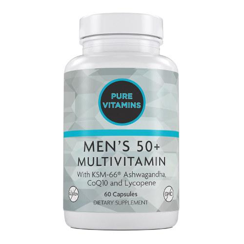 PURE VITAMINS MEN'S 50 PLUS MULTIVITAMINS 60 CAPS