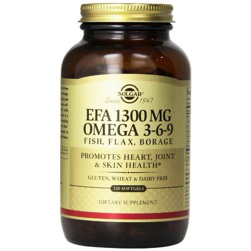 Solgar - EFA 1300 mg Omega 3-6-9 120 Softgels|Solgar - EFA 1300 mg Omega 3-6-9 120 Softgels