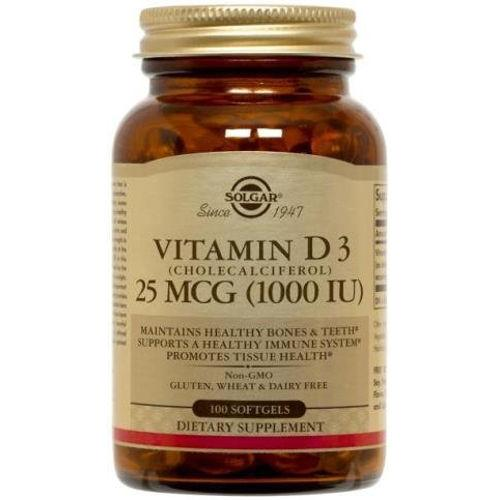 Solgar - Vitamin D3 25 MCG 1000 IU 100 Softgels