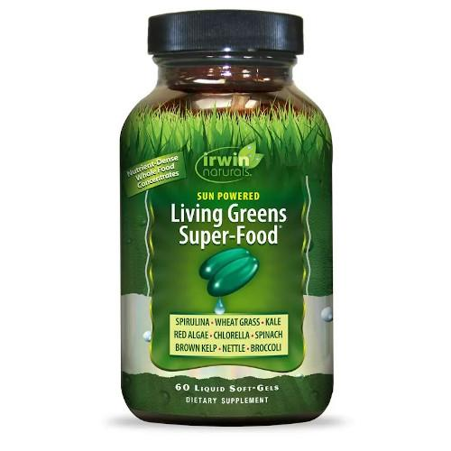 Irwin Naturals Living Greens Super Food 60 Softgels-Irwin Naturals-Ur Vitamins