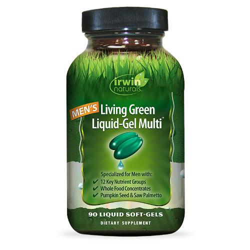 Irwin Naturals Men's Living Green Multi 90 Softgels-Irwin Naturals-Ur Vitamins