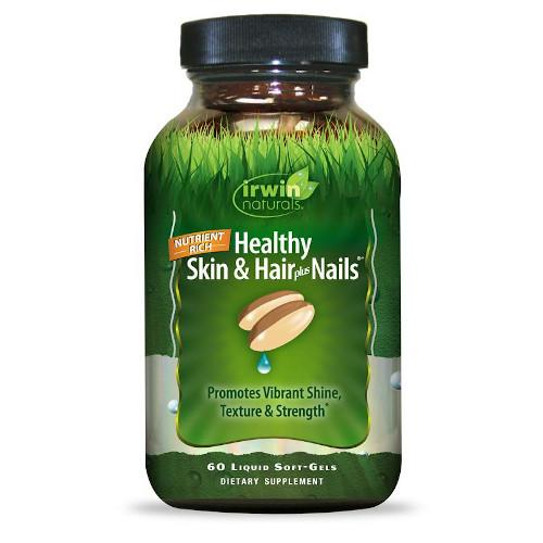 Irwin Naturals Healthy Skin Hair Plus Nails 60 Softgels-Irwin Naturals-Ur Vitamins