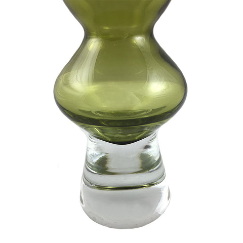 Vintage Olive Waterford Bud Vase