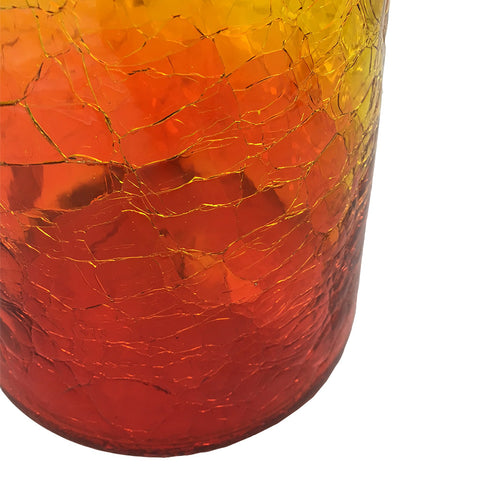 "Amberina ""Crackle"" Decanter"
