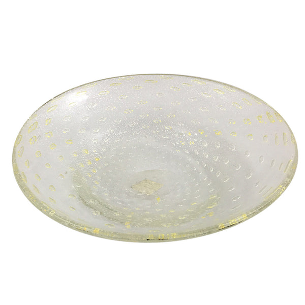 Clear and Gold Murano Bowl