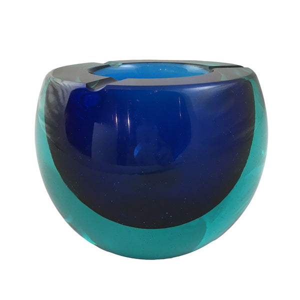 Cenedese Blue and Aqua Flatcut Bowl