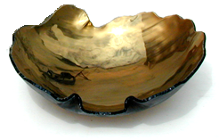 Map Bowl with Bronze Luster