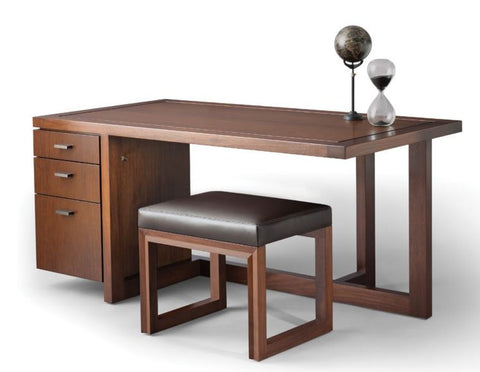Offset Desk with Arris Ottoman