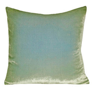Silk Velvet Rorschach Pillow, Ice
