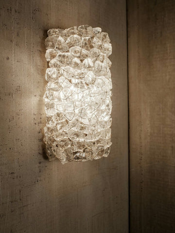 CLS Recycled Crystal Cylinder Sconce
