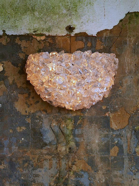 CLS Recycled Crystal Quarter Moon Sconce