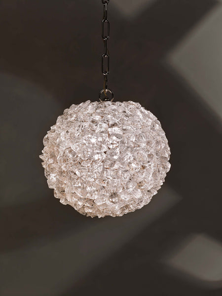 Rock Crystal Globe Pendant RC46S by CL Sterling