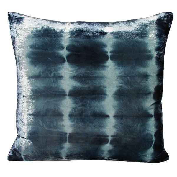 Nisi B - Silk Velvet Rorschach Pillow, Blueberry