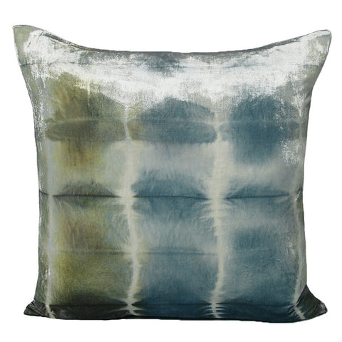 Nisi B - Silk Velvet Rorschach Pillow, Ice