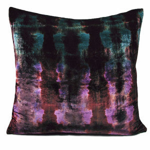 Nisi B - Silk Velvet Rorschach Pillow, Peacock