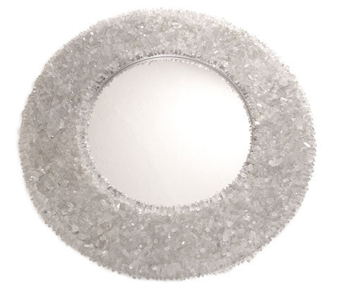 Round Rock Crystal Mirror