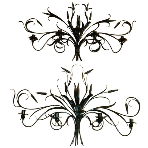 Pair of Italian Wrought-Iron Sconces