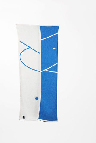 Foot 1 Cotton Beach Towel / Mini Blanket by Gabriel Nazoa