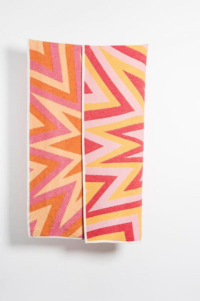 BANG! Cotton Blanket / Throw by Liz Collins - Red