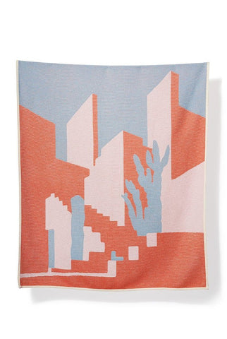Arizona Cotton Blanket / Throw by Tess Redburn