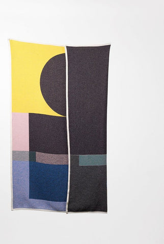 Bauhaused 6 Cotton Blanket / Throw by Sophie Probst