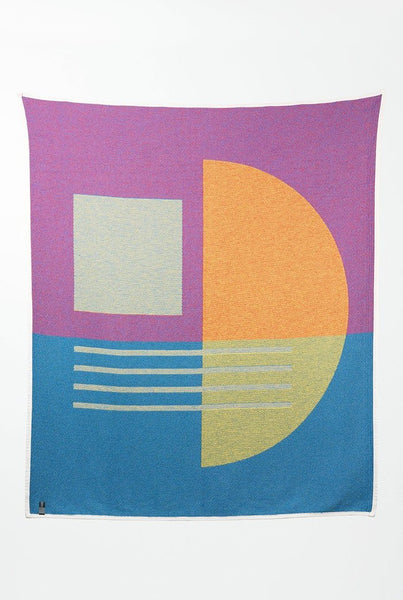 Bauhaused 1 Cotton Blanket/Throw by Sophie Probst