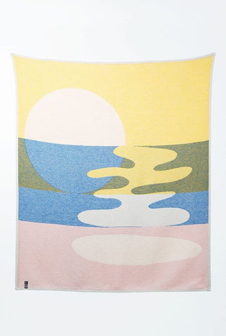 Mainstream Cotton Blanket / Throw by Catherine Lavoie
