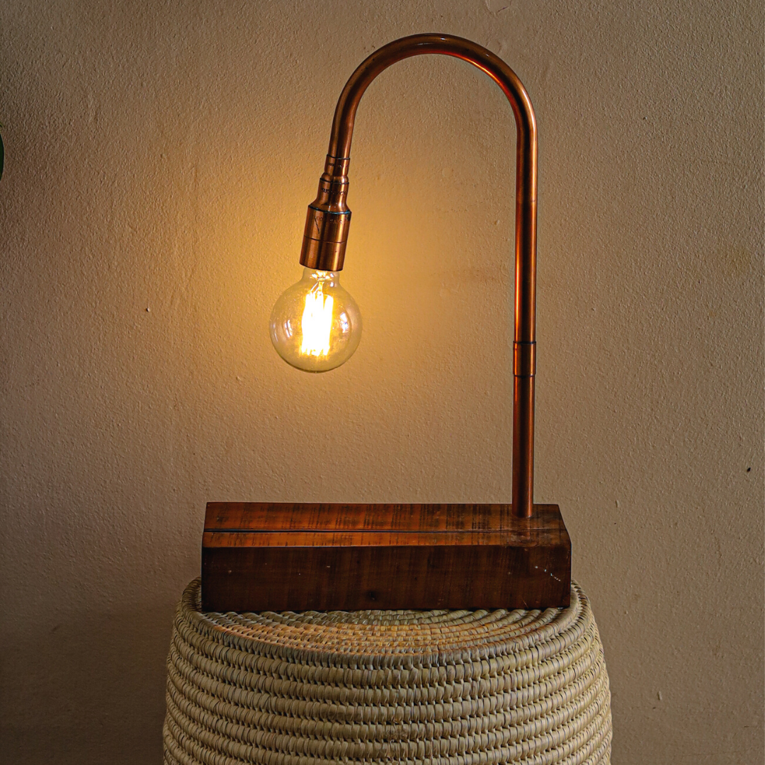 copper lamp: rounded