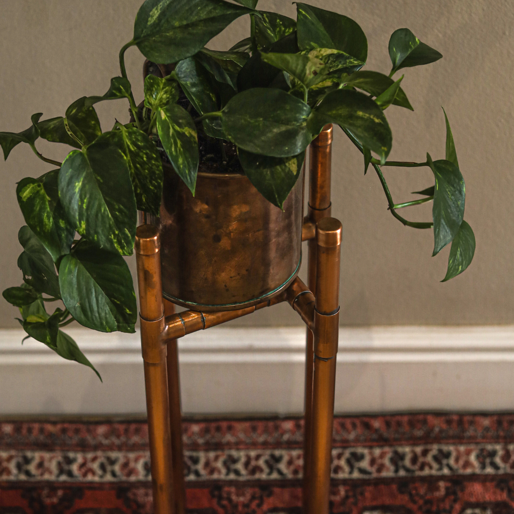 copper planter stand