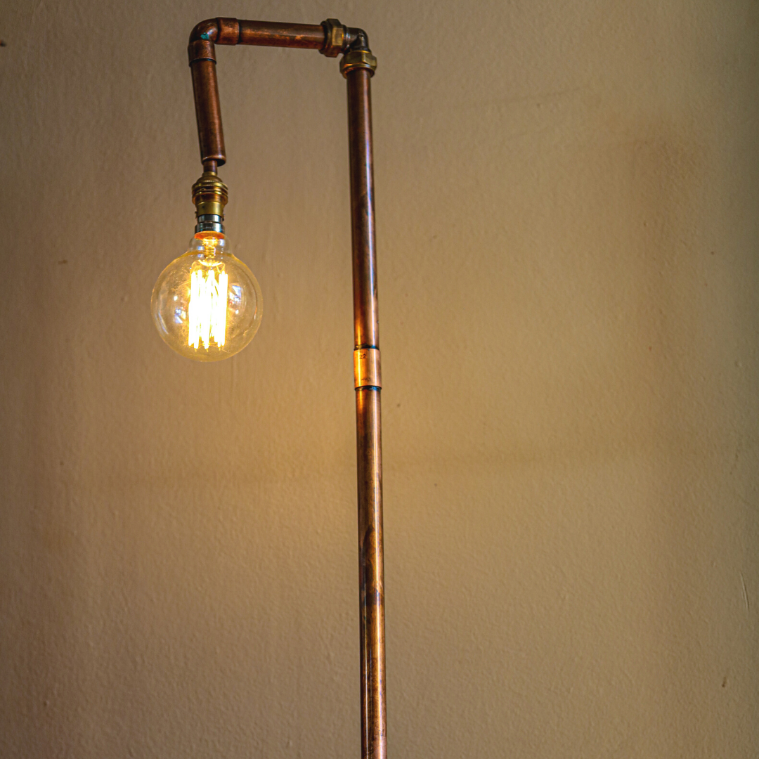 copper lamp: tall
