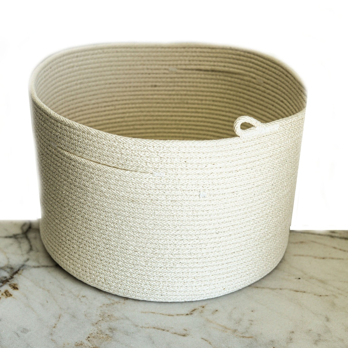 rope basket: extra wide natural