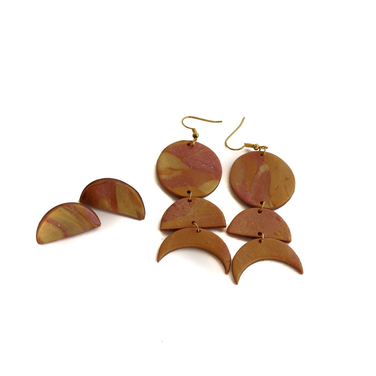 clay earring set: sunset flow