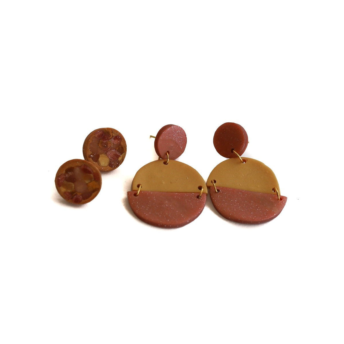 clay earring set: sunset katie