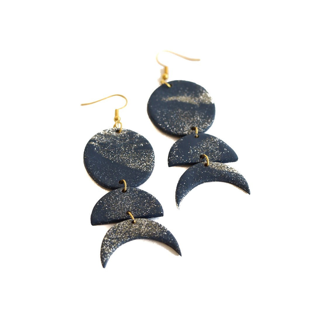 clay earring set: starlight flow