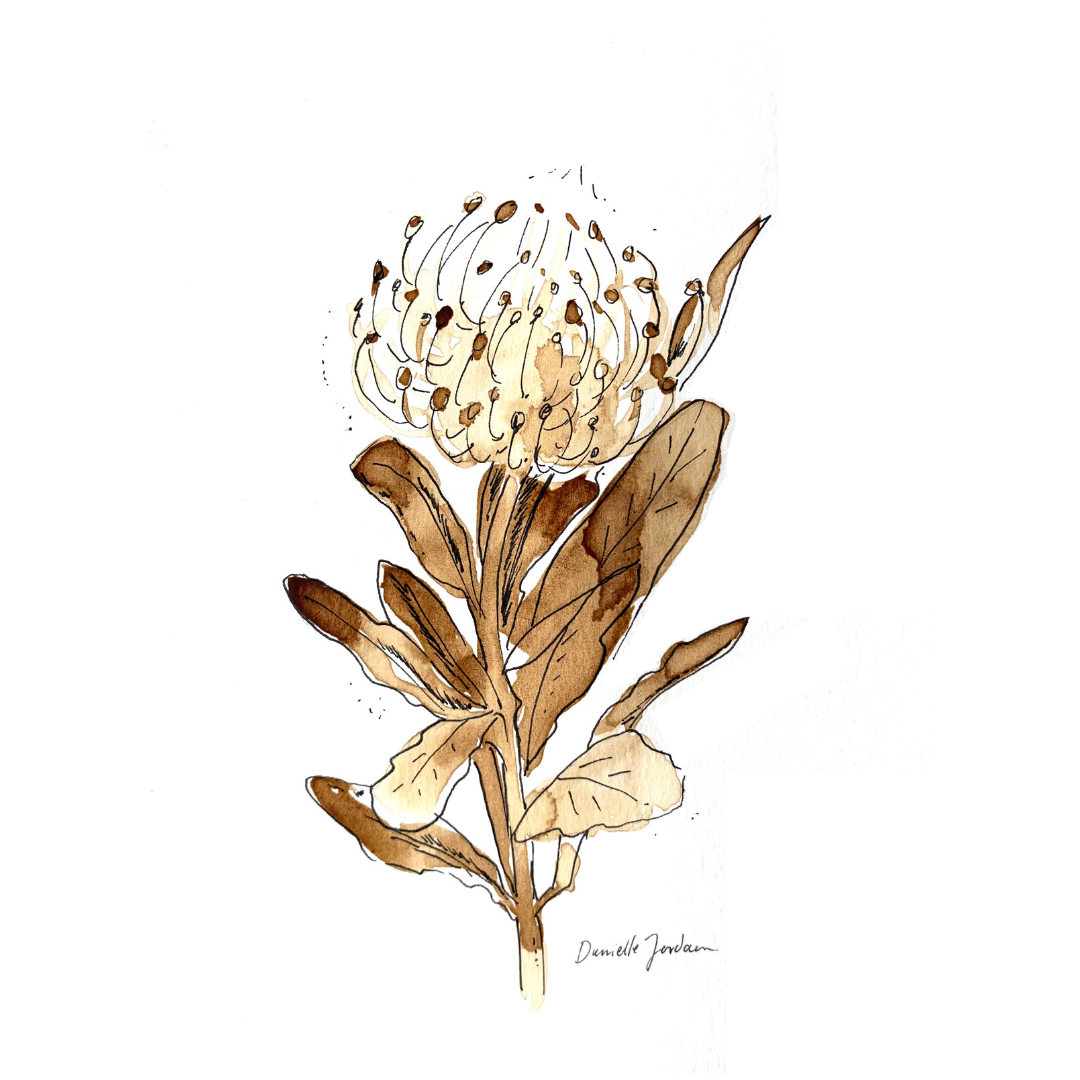 coffee painting: pincushion print