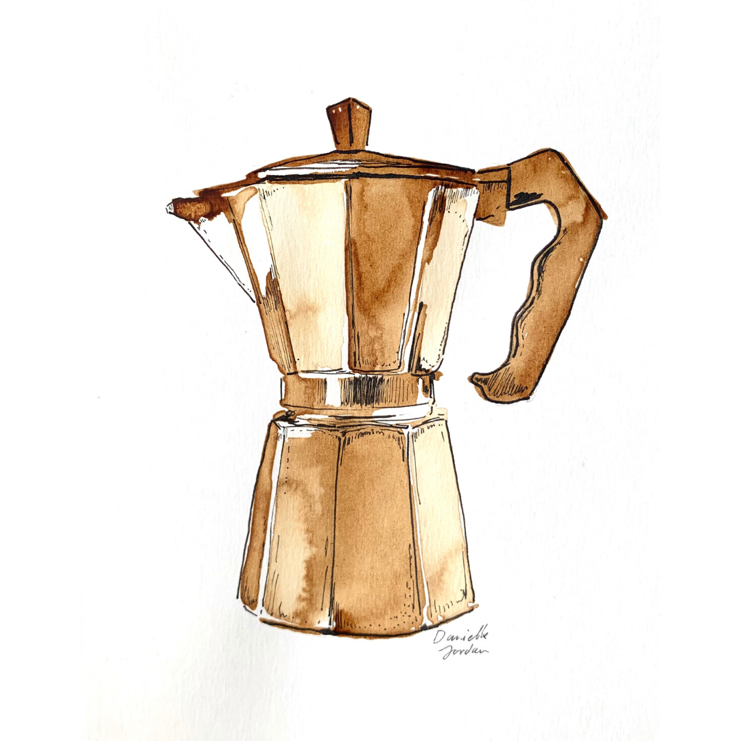 coffee painting: mocha print