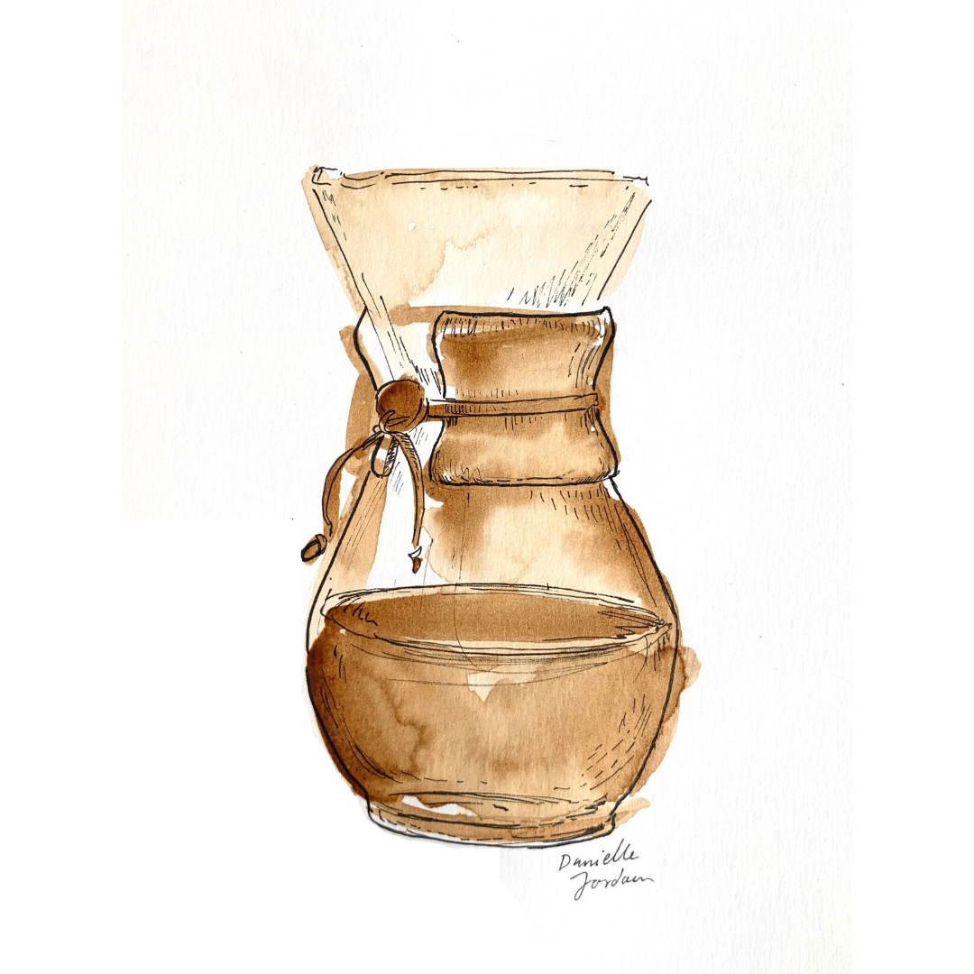 coffee painting: pourover print