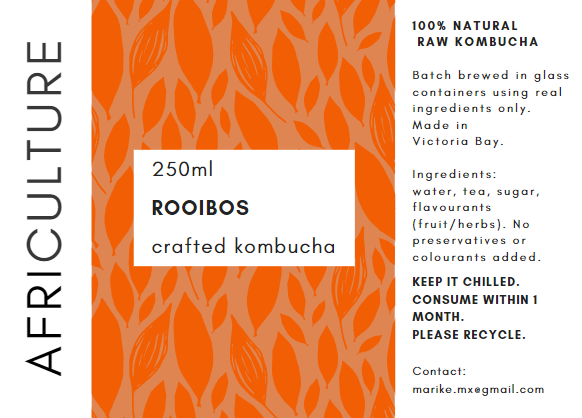 Crafted kombucha (Garden Route only)