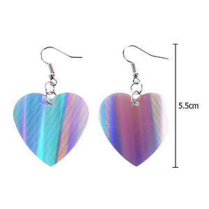 Trendy Sequin Big Heart Dangle Earrings for Women Love Jewelry Chic Silver Color Earing Long Love Jewellery
