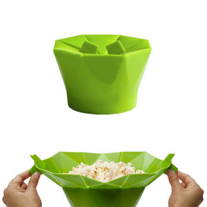 Silicone Popcorn Box Maker Foldable Microwave PopCorn Box Puffed Rice Bowl Home Kitchen Dedicated