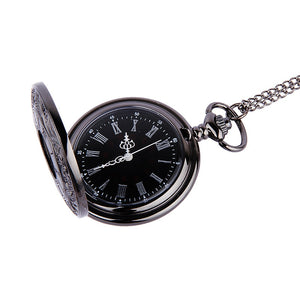 Pocket Watch Vintage Roman Numerals Quartz Watch Clock With Chain Antique Jewelry Pendant Necklace Gifts For Father
