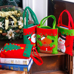 Christmas Decoration Supplies For Home Santa Claus Socks Style Christmas Candy Bag Christmas Drop Ornaments
