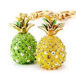 Tropical Fruit Pineapple Crystal Keychains Purse Bag Pendant For Car Keyrings High-grade Gift key chains holder