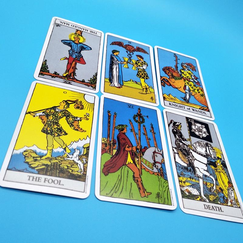Full English Radiant Rider Waite Tarot Cards High Quality Smith Waite Tarot Deck Board Game Cards