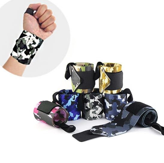 1 Pair  Camouflage nylon stretch wrap, protects wrist Weightlifting wristband bandage sports protector wristband