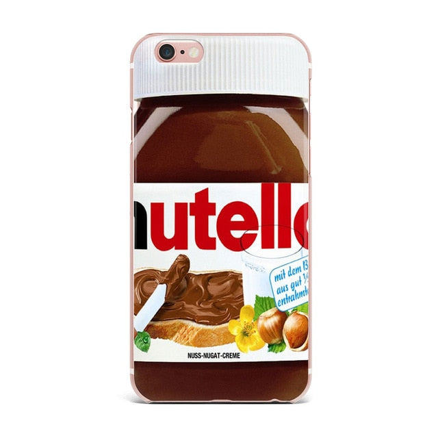Chocolate Cookies fries beer Creativity phone case for iPhone 6 Case 4 5S SE 6S 7 8 Plus X Food Soft TPU Cover for iPhone 7 Case